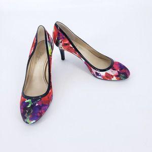 Shoes of Prey Multi Color Floral Print Heels 8.5 N